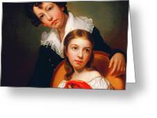 Michael Angelo And Emma Clara Peale Greeting Card