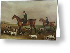 Michael Beverley With His Whipper In And Harriers Greeting Card