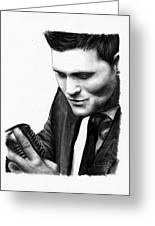 Michael Buble Greeting Card by Rosalinda Markle