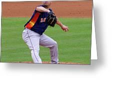Michael Feliz Houston Astro Pitcher Greeting Card