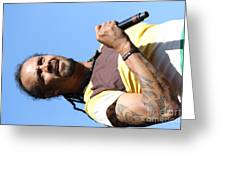 Musician Michael Franti  Greeting Card