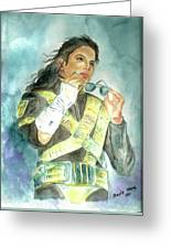 Michael Jackson - Dangerous Tour  Greeting Card by Nicole Wang