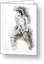 Michael Jackson - Onstage Greeting Card