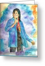 Michael Jackson - The Final Curtain Call Greeting Card