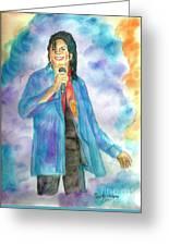 Michael Jackson - The Final Curtain Call Greeting Card by Nicole Wang