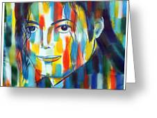 Michael Jackson  The Man In Color Greeting Card
