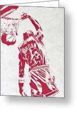 Michael Jordan Chicago Bulls Pixel Art 1 Greeting Card