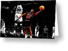 Michael Jordan Left Hand Greeting Card