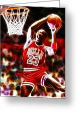 Michael Jordan Magical Dunk Greeting Card