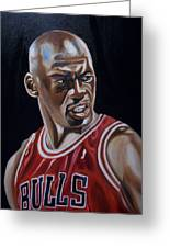 Michael Jordan Greeting Card by Mikayla Ziegler