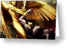 Michael Vs Devil Greeting Card