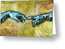 Michelangelo's Creation Of Man Greeting Card