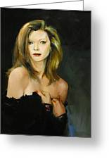 Michelle Pfeiffer Greeting Card by Tigran Ghulyan
