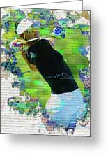 Michelle Wie Street Art Greeting Card