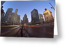 Michgan Avenue Action Greeting Card