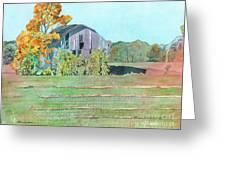 Michigan Autumn Barn Greeting Card