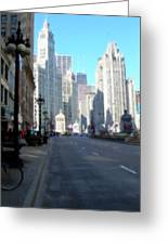 Michigan Ave Tall Greeting Card