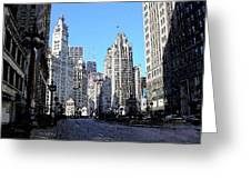 Michigan Ave Wide Greeting Card