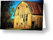 Michigan Barn Greeting Card
