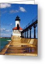 Michigan City Light 1 Greeting Card
