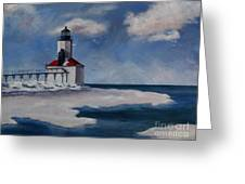 Michigan City Light Greeting Card