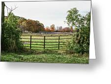 Michigan Farm And Fence  Greeting Card