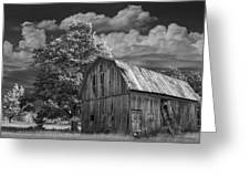 Michigan Old Wooden Barn Greeting Card