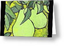 Michigan Pears Greeting Card