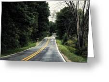 Michigan Rural Roadway In September Greeting Card