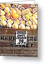 Michigan Squash For Sale Greeting Card