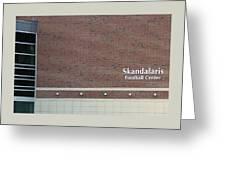 Michigan State University Skandalaris Football Center Signage Greeting Card