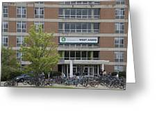 Michigan State University Welcome To Akers Signage Greeting Card