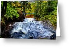 Michigan Waterfall Greeting Card