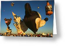 Mickey Mouse And Friends - Hot Air Balloons Greeting Card