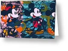 Mickey Mouse Vs. Minnie Mouse Stage On Greeting Card