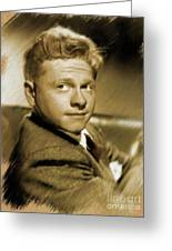 Mickey Rooney, Actor Greeting Card