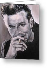 Mickey Rourke Greeting Card