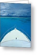 Micronesia, Boat Bow Greeting Card