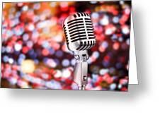 Microphone Greeting Card