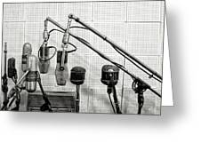 Microphones At Sun Records Greeting Card