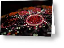Microscopic V - Glitter Greeting Card by Sandra Hoefer