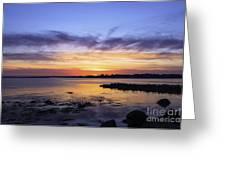 Mid April Sunset Greeting Card