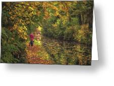 Mid Autumn On The Grand Union No 2 Greeting Card