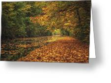 Mid Autumn On The Grand Union No 4 Greeting Card