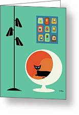 Mid Century Mini Oblongs Greeting Card