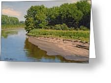 Mid Summer Prairie Stream Greeting Card