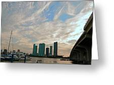 Midday In Miami 2 Greeting Card
