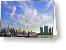 Midday In Miami Greeting Card