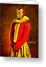 Middle Ages Iron Man Greeting Card