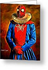 Middle Ages Spider Man Greeting Card